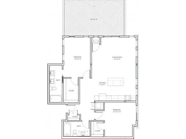 2 Bedrooms 2 Bathrooms Apartment for rent at Vue Apartment Homes in Minneapolis, MN
