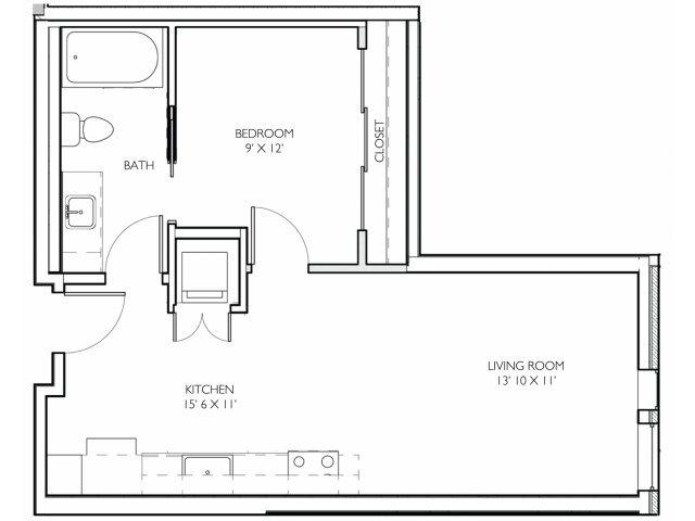Studio 1 Bathroom Apartment for rent at Vue Apartment Homes in Minneapolis, MN