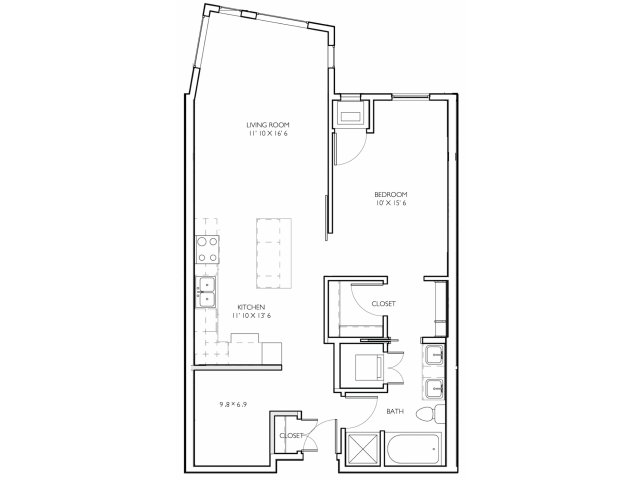 2 Bedrooms 1 Bathroom Apartment for rent at Vue Apartment Homes in Minneapolis, MN