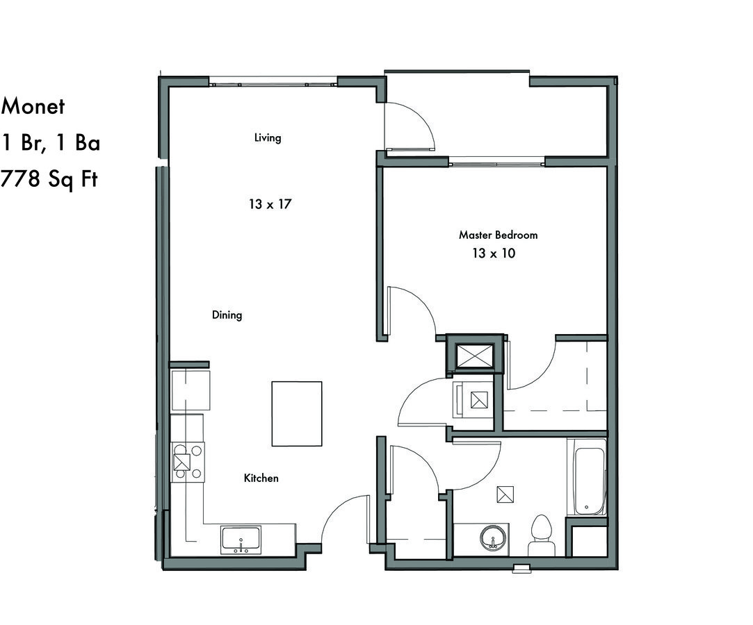 1 Bedroom 1 Bathroom Apartment for rent at Discovery West in Issaquah, WA