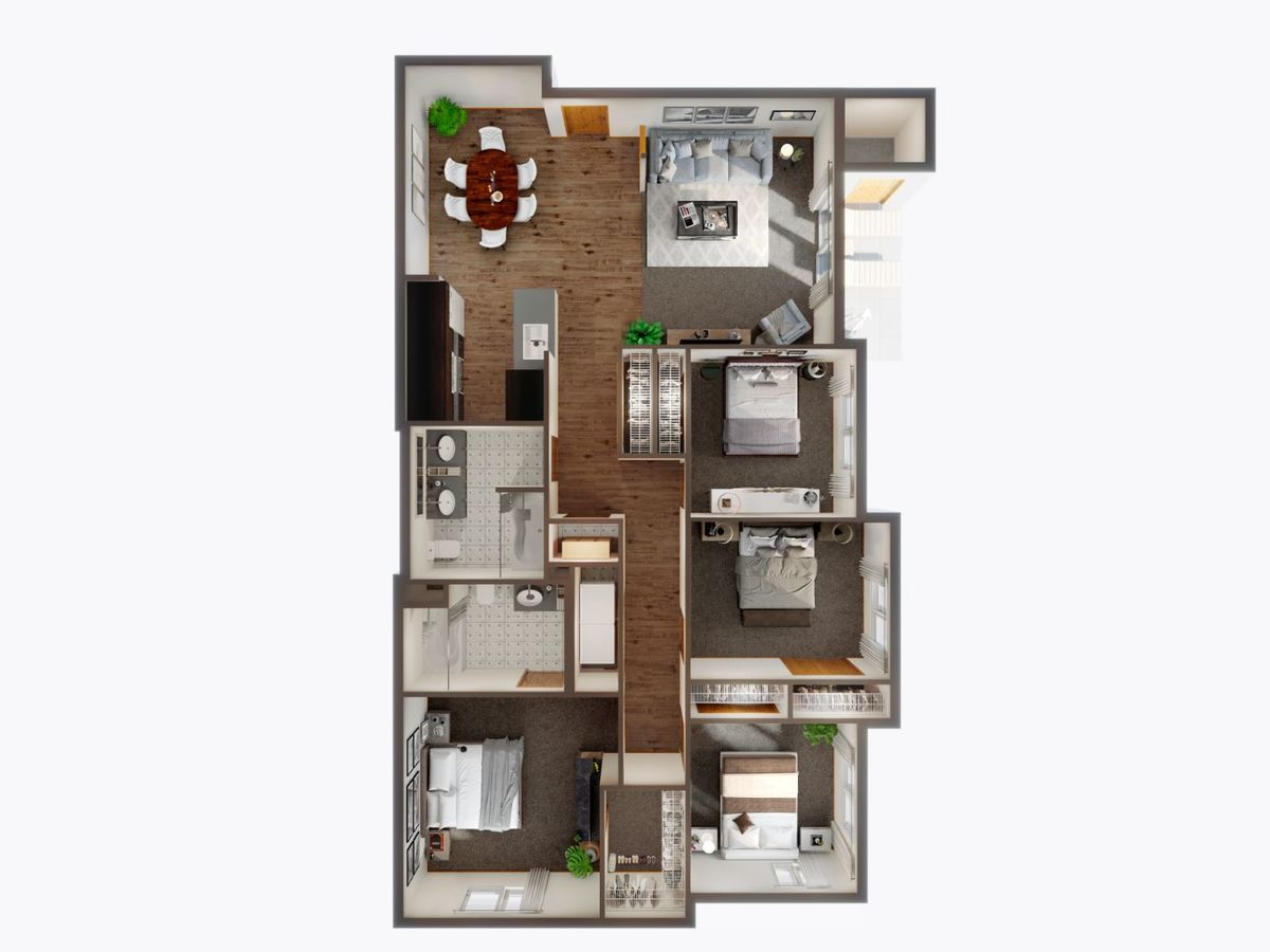 4 Bedrooms 2 Bathrooms Apartment for rent at Panorama in North Bend, WA
