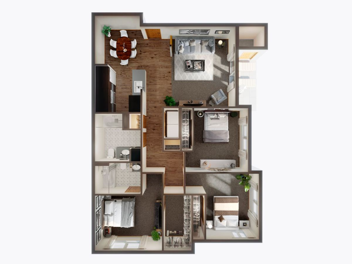 3 Bedrooms 2 Bathrooms Apartment for rent at Panorama in North Bend, WA