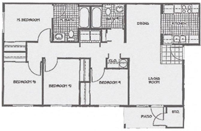 4 Bedrooms 2 Bathrooms Apartment for rent at Regency Park in Bellingham, WA