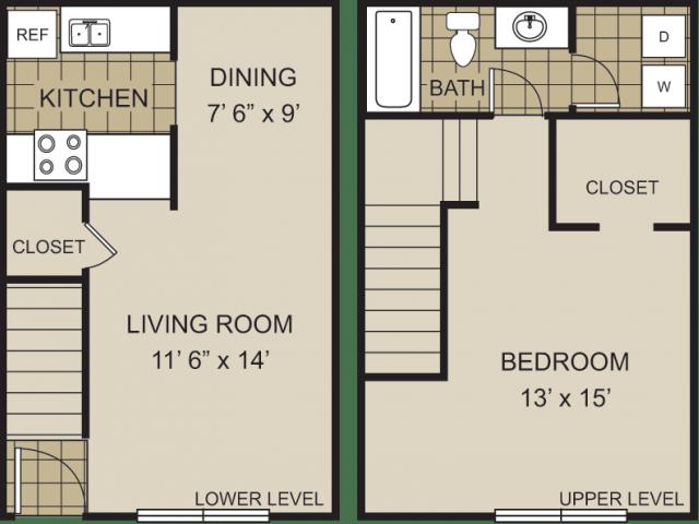 1 Bedroom 1 Bathroom Apartment for rent at Redwine Creek in Atlanta, GA