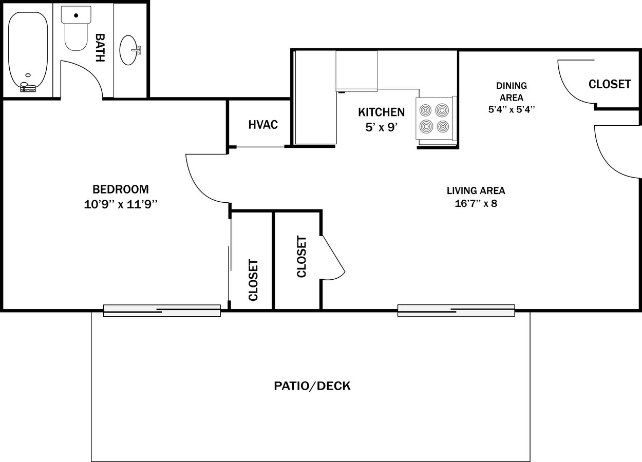 1 Bedroom 1 Bathroom Apartment for rent at Westchester Village in Ofallon, MO