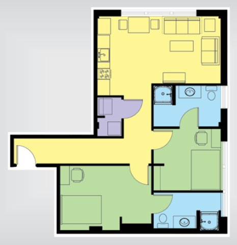 2 Bedrooms 2 Bathrooms Apartment for rent at The U At Springfield in Springfield, MO