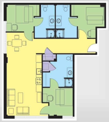 3 Bedrooms 3 Bathrooms Apartment for rent at The U At Springfield in Springfield, MO