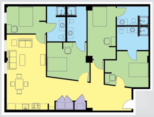 4 Bedrooms 4+ Bathrooms Apartment for rent at The U At Springfield in Springfield, MO