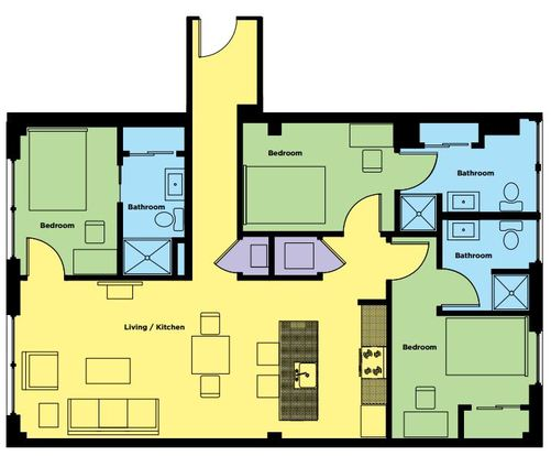 3 Bedrooms 3 Bathrooms Apartment for rent at Sky Eleven in Springfield, MO