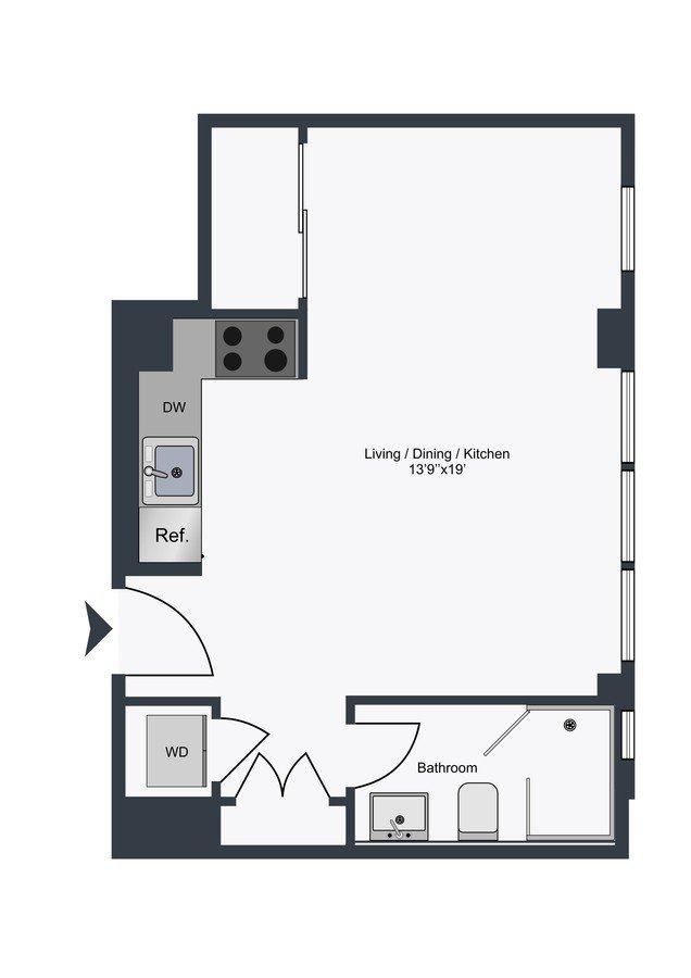 Studio 1 Bathroom Apartment for rent at The Century in Washington, DC