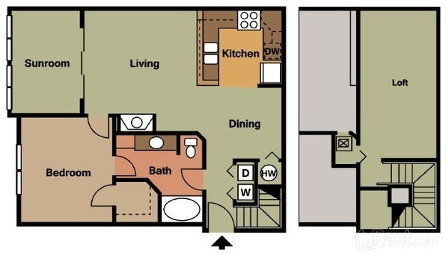 1 Bedroom 1 Bathroom Apartment for rent at Ashley Park Apartments in Raleigh, NC