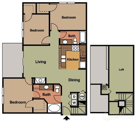 2 Bedrooms 2 Bathrooms Apartment for rent at Ashley Park Apartments in Raleigh, NC