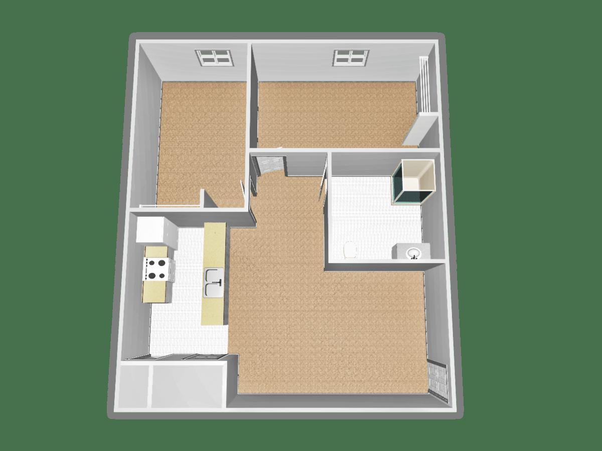 2 Bedrooms 1 Bathroom Apartment for rent at Campus Village At Cardinal Center in Saginaw, MI