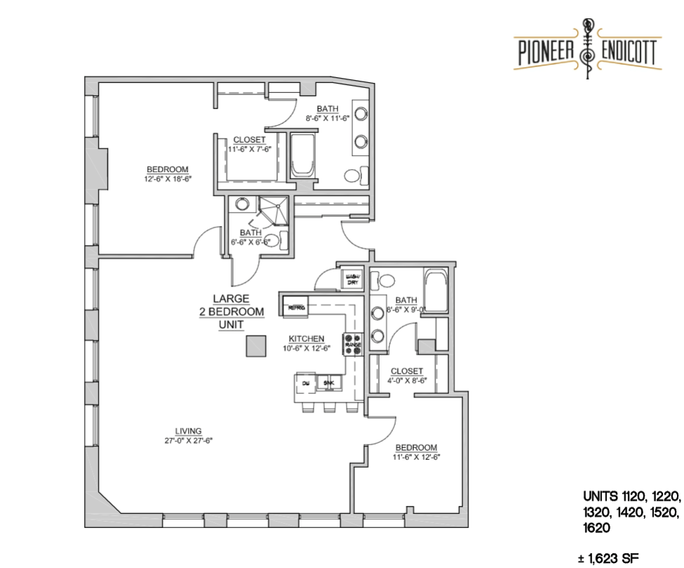 2 Bedrooms 3 Bathrooms Apartment for rent at Pioneer Endicott in St Paul, MN