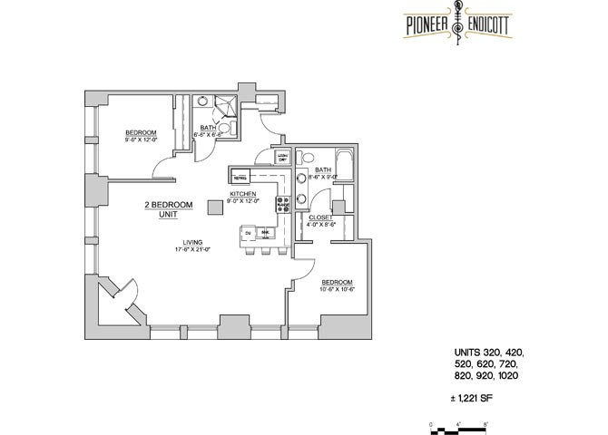 2 Bedrooms 1 Bathroom Apartment for rent at Pioneer Endicott in St Paul, MN