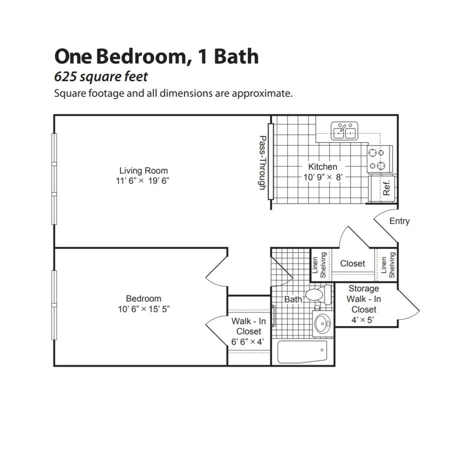 1 Bedroom 1 Bathroom Apartment for rent at English Conway Place in St Paul, MN