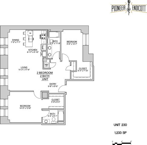 2 Bedrooms 2 Bathrooms Apartment for rent at Pioneer Endicott in St Paul, MN