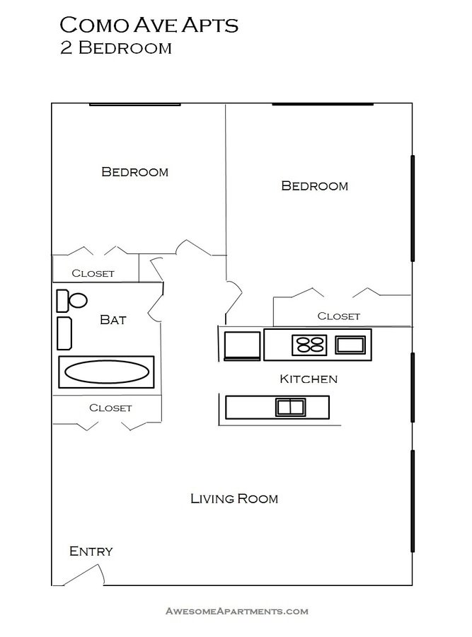 2 Bedrooms 1 Bathroom Apartment for rent at Como Lake Estates in St Paul, MN