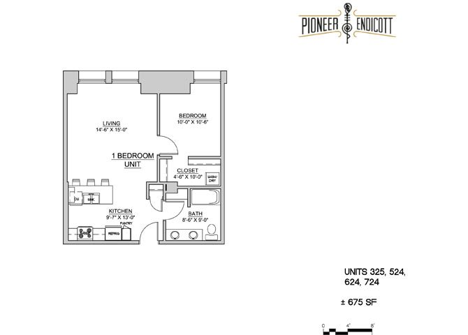 1 Bedroom 1 Bathroom Apartment for rent at Pioneer Endicott in St Paul, MN