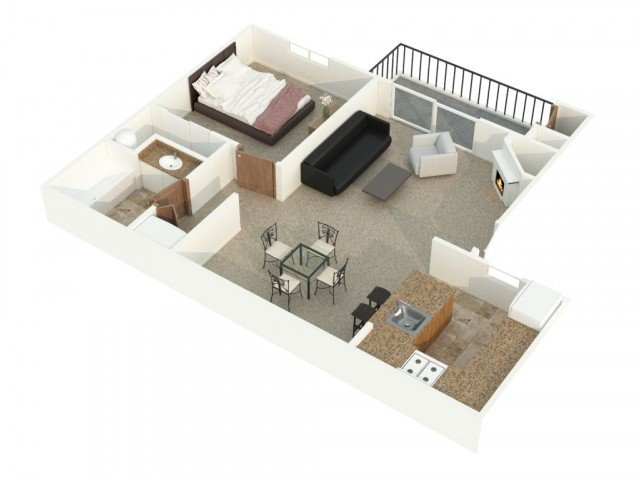 1 Bedroom 1 Bathroom Apartment for rent at Alderbrooke in Lynnwood, WA