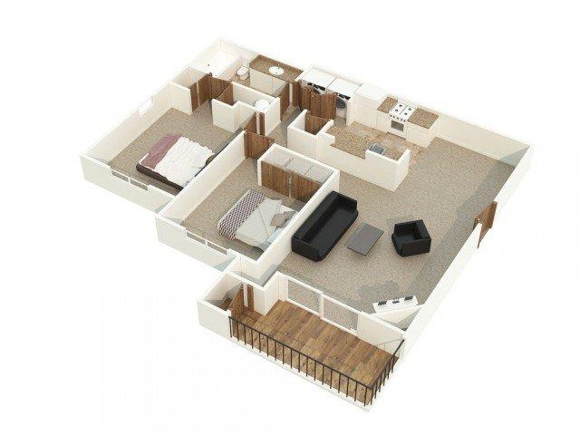 2 Bedrooms 1 Bathroom Apartment for rent at Alderbrooke in Lynnwood, WA