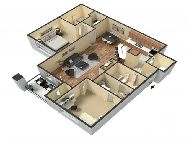 2 Bedrooms 2 Bathrooms Apartment for rent at Kings Cross in Fayetteville, NC