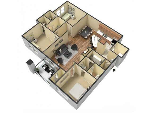 3 Bedrooms 2 Bathrooms Apartment for rent at Kings Cross in Fayetteville, NC