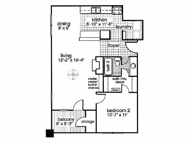 1 Bedroom 1 Bathroom Apartment for rent at Kings Pointe in Fayetteville, NC