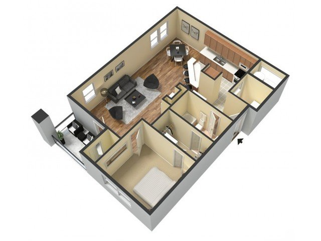 1 Bedroom 1 Bathroom Apartment for rent at Kings Cross in Fayetteville, NC