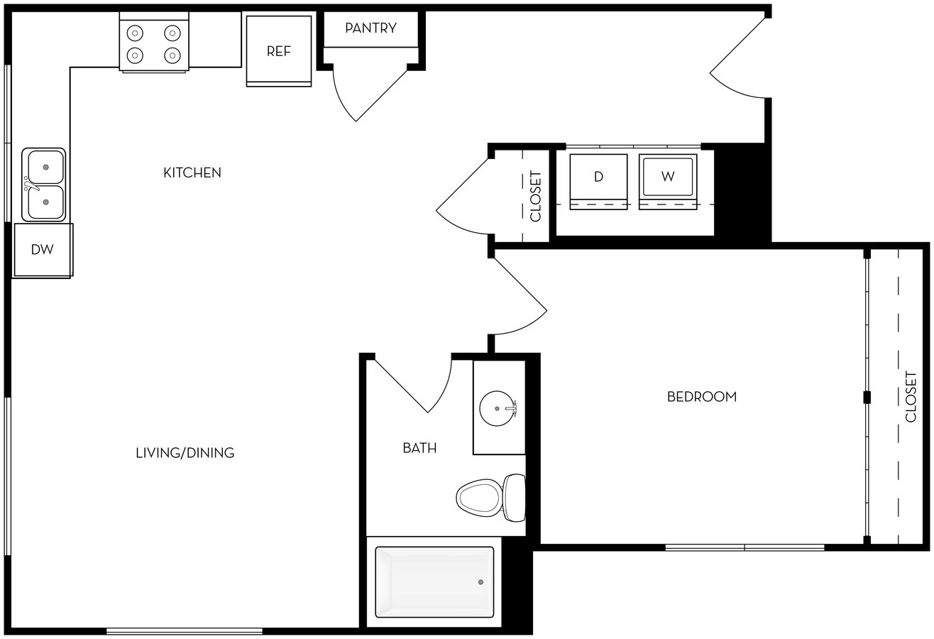 1 Bedroom 1 Bathroom House for rent at Brixton in Salt Lake City, UT
