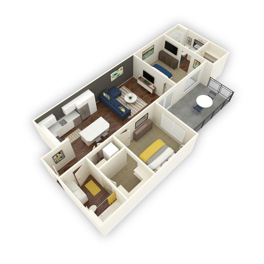 2 Bedrooms 2 Bathrooms Apartment for rent at Block 44 in Salt Lake City, UT