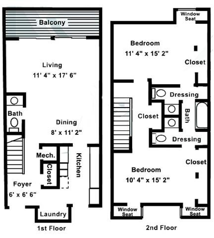 2 Bedrooms 1 Bathroom Apartment for rent at Village of Pickwick in Raleigh, NC