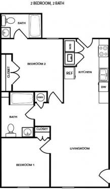 2 Bedrooms 2 Bathrooms Apartment for rent at Hampton Village Of Youngsville in Youngsville, NC
