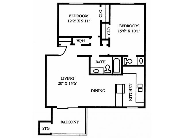2 Bedrooms 1 Bathroom Apartment for rent at The Preserve At Pine Valley in Wilmington, NC