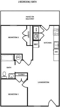 2 Bedrooms 1 Bathroom Apartment for rent at Hampton Village Of Youngsville in Youngsville, NC
