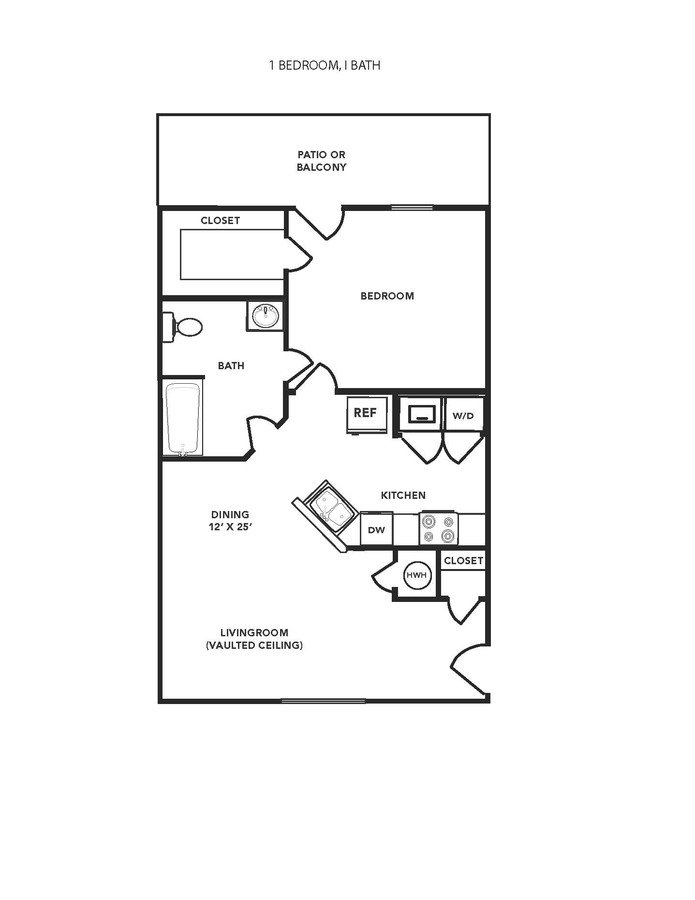 1 Bedroom 1 Bathroom Apartment for rent at Hampton Village Of Youngsville in Youngsville, NC