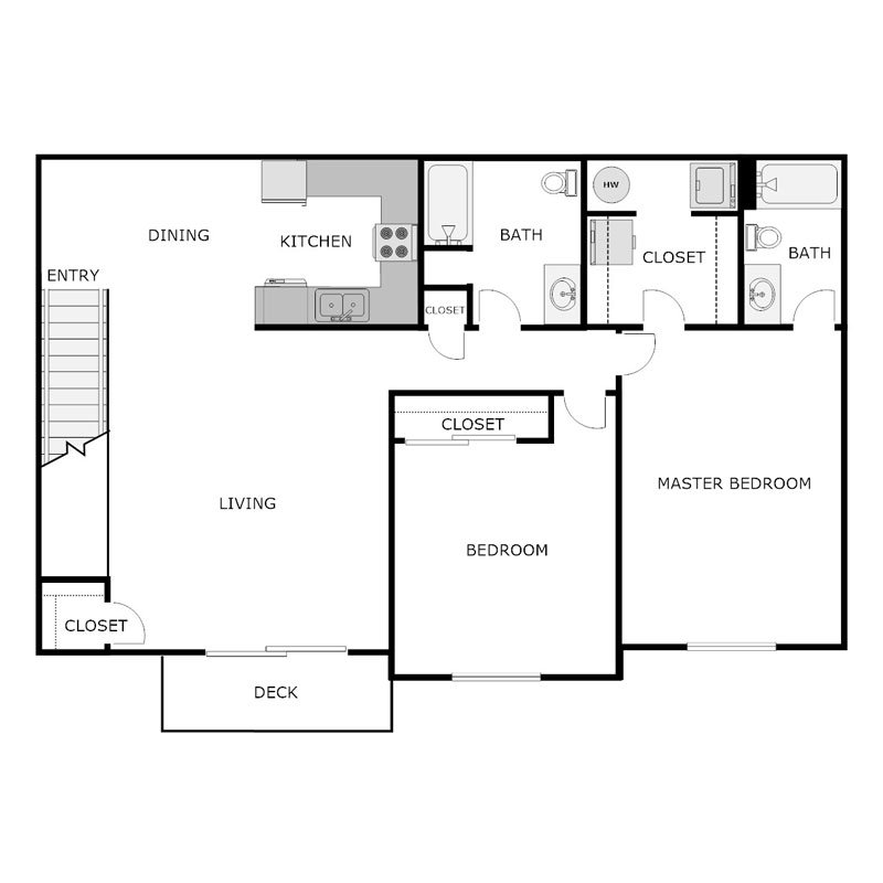 2 Bedrooms 2 Bathrooms Apartment for rent at Kennedy Drive Estates in New Holstein, WI