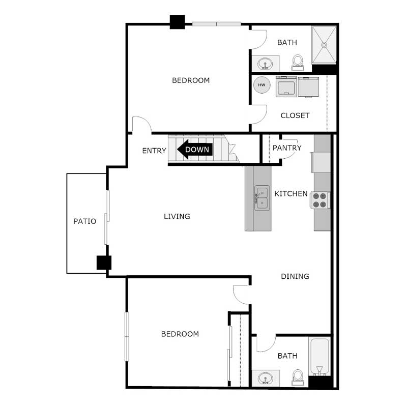 2 Bedrooms 2 Bathrooms Apartment for rent at Falcon Point Apartments in Horicon, WI