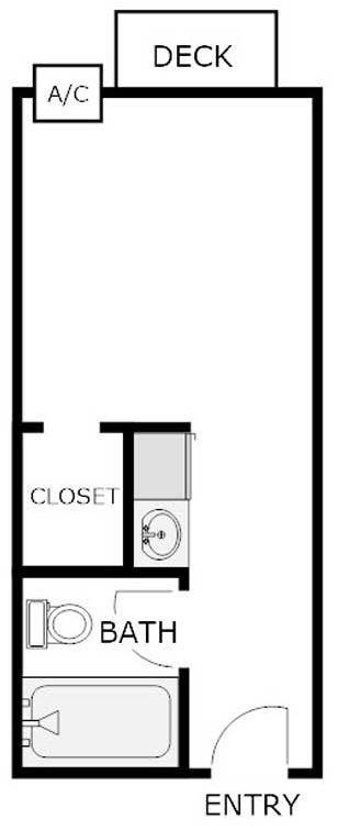 Studio 1 Bathroom Apartment for rent at Wedgewood Commons in La Crosse, WI