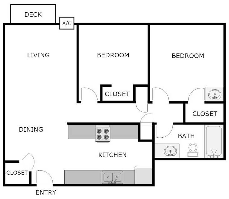 2 Bedrooms 1 Bathroom Apartment for rent at WEDGEWOOD COMMONS in La Crosse, WI
