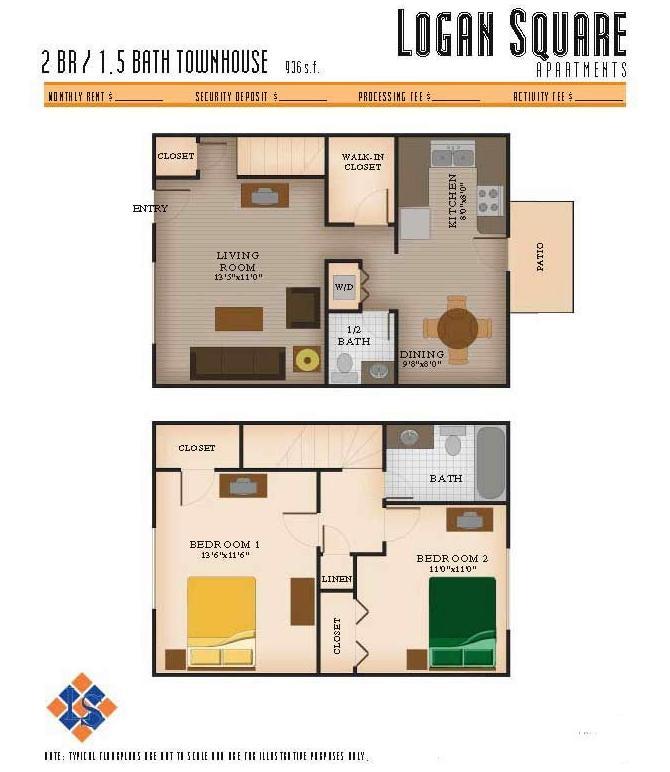 2 Bedrooms 1 Bathroom Apartment for rent at Logan Square Apartments in Auburn, AL