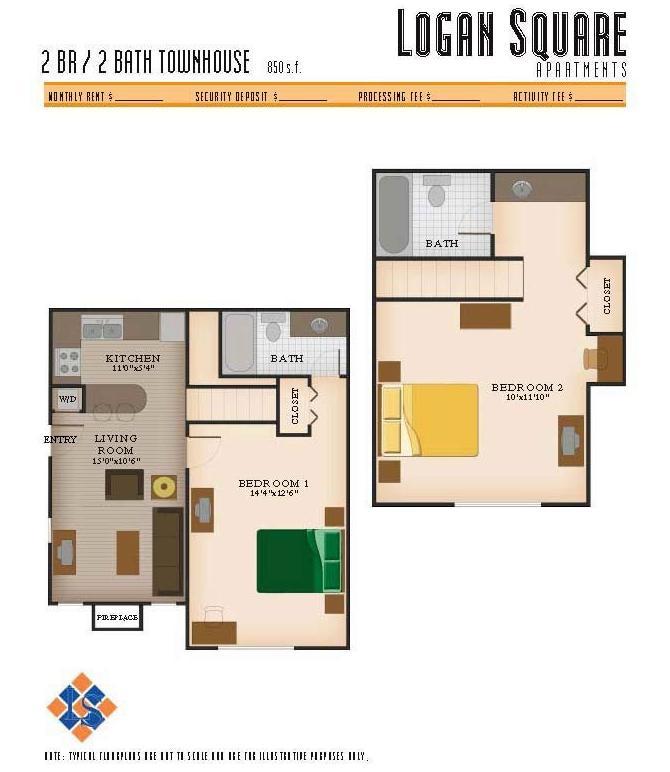 2 Bedrooms 2 Bathrooms Apartment for rent at Logan Square Apartments in Auburn, AL