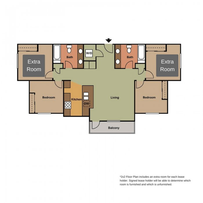 2 Bedrooms 2 Bathrooms Apartment for rent at View in Lincoln, NE