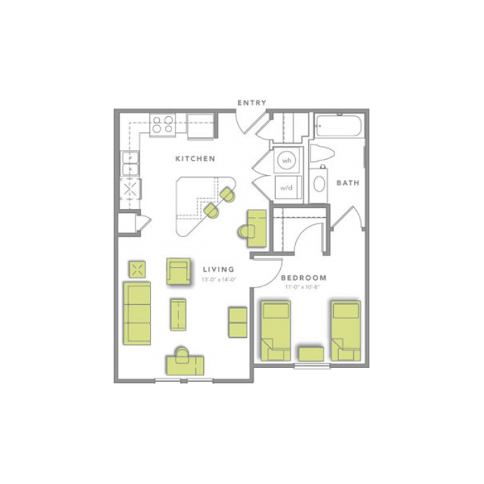 1 Bedroom 1 Bathroom Apartment for rent at Grand Marc At Tallahassee in Tallahassee, FL