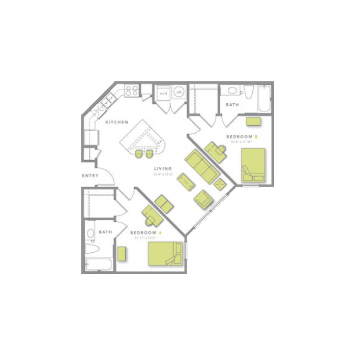 2 Bedrooms 2 Bathrooms Apartment for rent at Grand Marc At Tallahassee in Tallahassee, FL