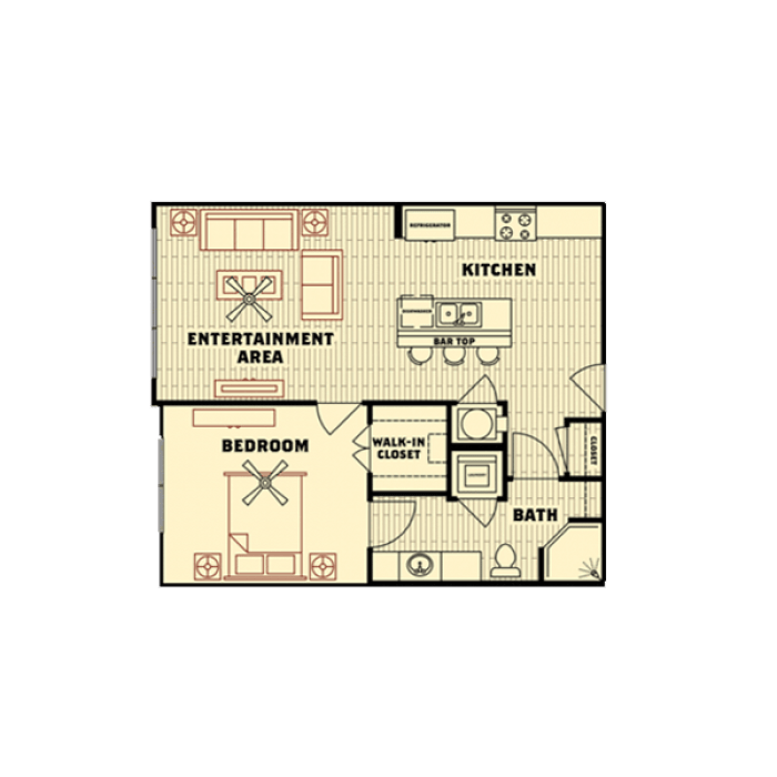 1 Bedroom 1 Bathroom Apartment for rent at Catalyst in Tallahassee, FL