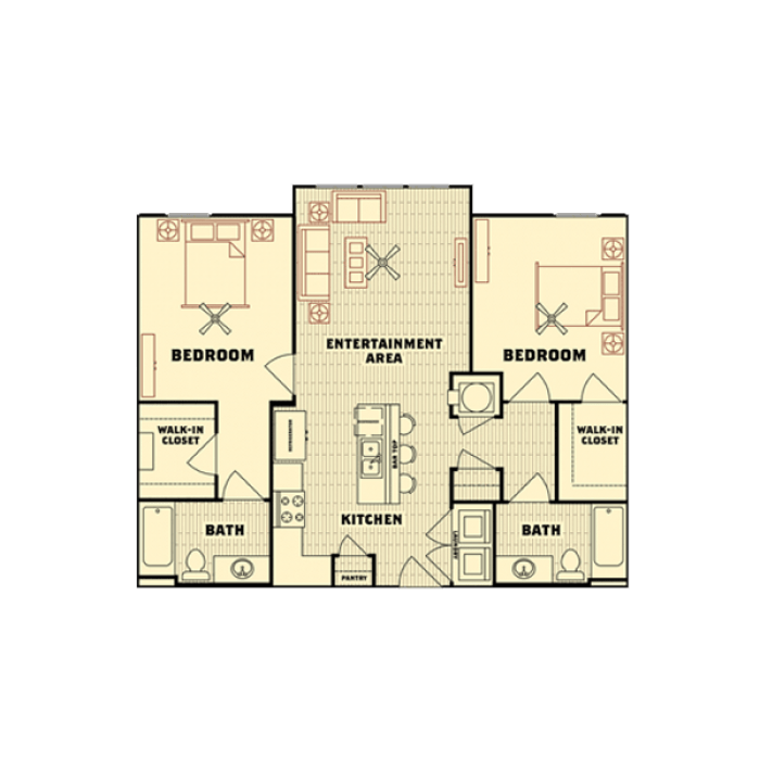 2 Bedrooms 2 Bathrooms Apartment for rent at Catalyst in Tallahassee, FL