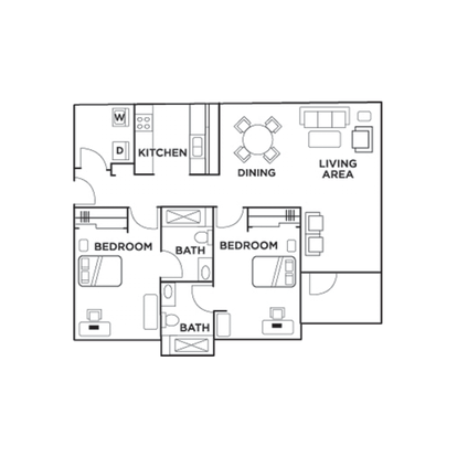 2 Bedrooms 2 Bathrooms Apartment for rent at Chapel Ridge in Chapel Hill, NC