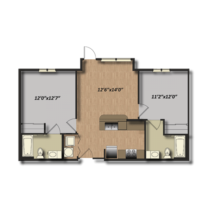 2 Bedrooms 2 Bathrooms Apartment for rent at Campus Village At College Station in College Station, TX