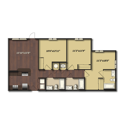 3 Bedrooms 3 Bathrooms Apartment for rent at Campus Village At College Station in College Station, TX